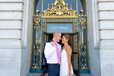 You've seen the gilded front door of City Hall, but what about the security line behind it? Don't worry, it's not like SFO, but it's one of those things you have to make time for. Super helpful info by A Practical Wedding.
