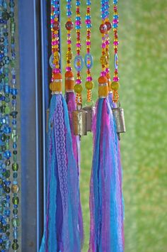 Colorful Sun Catcher Beaded Mobile With Brass #glassbeadstrands #ceilinghanging #bellsdecor #bellwindchimes #windchimes #uniquewindchimes #beadedsuncatcher #glassbeadchimes #glasssuncatchers #glasswindchimes #turquoisemobile #colorfullsuncatcher #colorfulwindchimes Crystal Beads, Glass Beads, Ceiling Hanging, Hanging Mobile, Beaded Curtains, Cozy Living Rooms, Sun Catcher, Bohemian Decor, House Colors