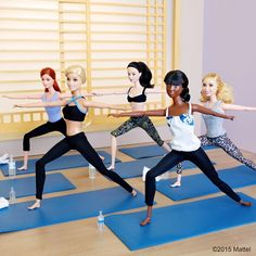 Strike a pose! Fitness is most fun with friends. #besuper #barbie #barbiestyle