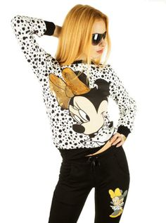 Trening Dama Minnie  -Trening dama  -Design cu imprimeu hazliu ce poate fi purtat cu usurinta     Lungime bluza: 57cm  Latime talie bluza: 42cm  Lungime pantalon: 97cm  Latime talie pantalon: 32cm  Compozitie: 100%Bumbac