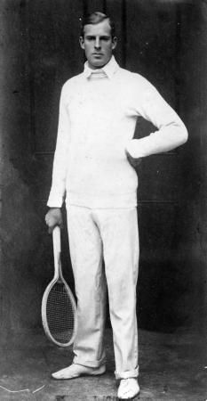 """Anthony """"Tony"""" Frederick Wilding (1883 – 1915) was a champion tennis player from Christchurch, New Zealand. He was the son of wealthy English immigrants to New Zealand & enjoyed the use of private tennis courts at their home. He won several Wimbledon Championships, was both World Hard Court & World Covered Court champion, won the Davis Cup several times for Australasia, & won a bronze medal at the 1912 Olympics. He was killed in action during WWI near Pas-de-Calais, France."""
