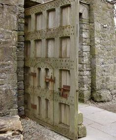 gate door at Bunratty Castle, Ireland