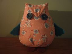 Floral owl, nice & easy - made by Sheila.