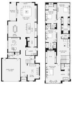 two storey house designs featuring separate granny flat Sonhos
