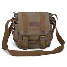 5935512479d  21217 Mens Canvas Satchel Bag Small Shoulder Bag