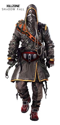 View an image titled 'Black Hand Heavy Concept Art' in our Killzone: Shadow Fall art gallery featuring official character designs, concept art, and promo pictures. Gangsters, Armor Concept, Concept Art, Ninja Assassin, Character Concept, Character Art, Killzone Shadow Fall, Art Du Monde, Sci Fi Armor