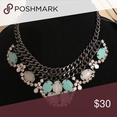 "Premier Designs Pastel Perfect Necklace Beautiful Pastel green necklace- perfect for the spring! Worn only a few times. 16"" necklace. Premier Designs Jewelry Necklaces"
