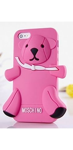Pink Teddy Bear Silicone Phone Case Iphone Samsung Cover