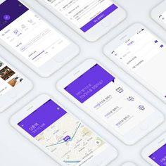 중간 장소 제공 어플 '일루와' 앱 디자인