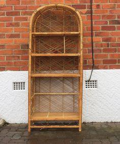 Vintage cane shelves. #placesandgraces #collection #vintage #cane #shelves