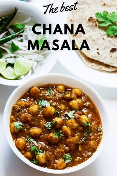 Chana masala - the Indian vegan chickpea curry which is famous through out the world. It is also popular as punjabi chole all over India. Chickpea Recipes, Veg Recipes, Curry Recipes, Indian Food Recipes, Vegetarian Recipes, Cooking Recipes, African Recipes, Vegan Chana Masala, Channa Masala