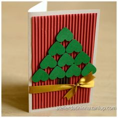 Try this with baker's twine instead of ribbon. Preschool Christmas, Christmas Cards To Make, Christmas Activities, Christmas Art, Handmade Christmas, Christmas Crafts, Christmas Decorations, Christmas Ornaments, Christmas Embroidery