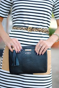 GiGi New York | Southern Curls & Pearls Fashion Blog | Black All In One Clutch