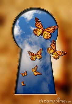 Illustration about butterflies flying out of a keyhole with blue cloudy sky inside it. Illustration of cloudy, blue, insect - 578538 Hole Drawing, 3rd Grade Art, Graffiti Murals, Mini Canvas Art, Aesthetic Painting, Abstract Nature, Art Classroom, Art Drawings Sketches, Art Sketchbook