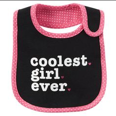 Coolest Girl Reversible Teething Bib