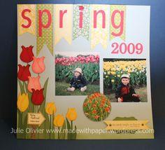 Spring scrapbook