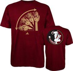 Florida State Seminoles Maroon adidas Hand Signs T-Shirt