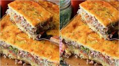 See related links to what you are looking for. Bread Recipes, Cooking Recipes, Cooking Chinese Food, Meat Rolls, Dessert Boxes, Recipe Steps, Indonesian Food, Lasagna, Veggies