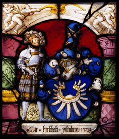 Glasfenster / Wappen   Stained Glass Coat of Arms