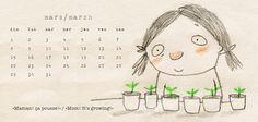 Calendrier / calendar on Behance