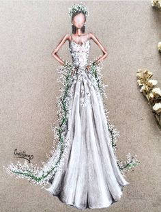 @cristinag_elena #ReemAcra Fall 2018 #Bridal #FashionIllustrations |Be Inspirational ❥|Mz. Manerz: Being well dressed is a beautiful form of confidence, happiness & politeness