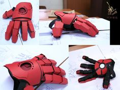 I made this Glove straight after i saw the movie - inspired by the scene where Tony had the one glove on and he was blasting the windows down in his workshop