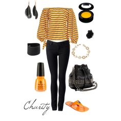 orange/black..skinny jeans..outfit