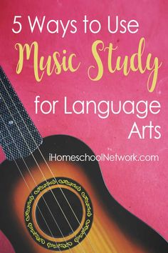 Ways families can use the study of music in their homeschool, namely classical vocal pieces, folk songs, and hymns, to grow five language arts skills. Elementary Music Lessons, Vocal Lessons, Spelling Lists, Spelling Words, Music Activities, Language Activities, Teaching Language Arts, Teaching Music, Writing Correction