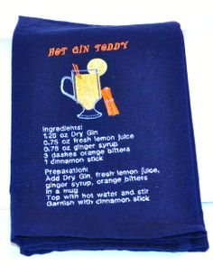 The second of the drink recipe towels