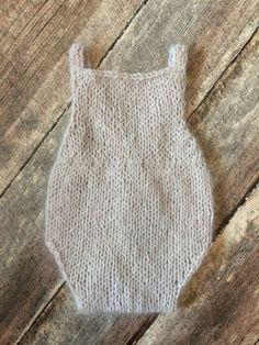 PDF Knitting Pattern - newborn photography prop_classic angora romper #126