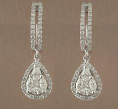 18K White Gold and Diamond Earrings.      Call today to make an appnt 415.437.3216    Like us on FB!  https://www.facebook.com/MauriceJewelry