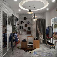 Nhìn chung nội thất được thiết kế khá đơn giản - thiết kế shop thời trang diện tích nhỏ