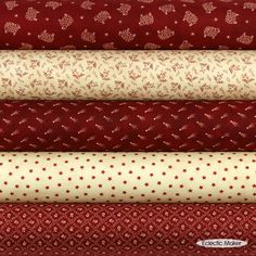 Red Primitive Gatherings Fabric Pack Old Glory Gatherings