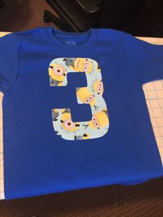 3rd birthday shirt minion