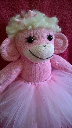 Pink Sock Monkey Girl Ballerina Tutu #NaivePrimitive