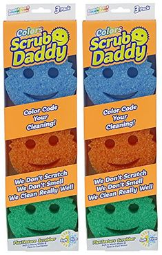 Scrub Daddy – Scratch Free Color Sponge with Flex Texture Casa Jenner, Scrub Daddy, Beautiful Black Babies, Best Cleaning Products, Sponge Holder, Room Organization, Cool Items, Deep Cleaning, Free Coloring