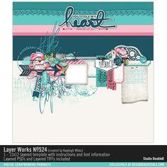 Layer Works No. 524- Studio Double-D Templates- LT822945- DesignerDigitals