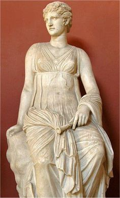 """Euterpe: Euterpe, Muse of lyric poetry and Music. From the Villa of G. Cassius Longinus near Tivoli. About 2nd century CE. Rome Vatican Museums    The """"Sala delle Muse"""", """"Muses' hall"""" at the museum, houses the seven statues found in the ruins of Caius Cassius Longinus' Villa near Tivoli. These sculpures represent Apollo kitharoidos and six Muses: Melpomene, Talia, Urania, Clio ,Calliope Euterpe."""