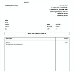 Service Contract Invoice Templates Free Word  Templates For