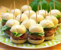 Mini hamburgery - koreczki