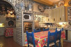 Mexican Kitchen - the tile work is marvelous