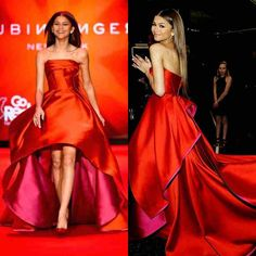 2016 Sexy Zendaya Coleman Celebrity Red Carpet Evening Dresses Hi-lo Formal Prom Party Gown robes de soiree