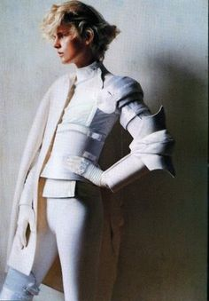 This is stunning. White armour fashion. One in black too and I'd be a happy lady!