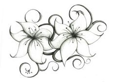 lily flower tattoo drawing - Google Search