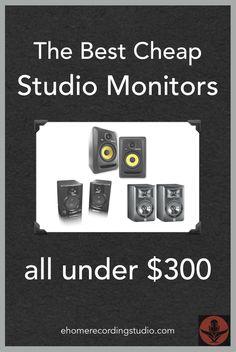 Best Cheap Studio Monitors under $300 http://ehomerecordingstudio.com/cheap-studio-monitors/