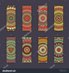 Banner Card Set With Floral Colorful Decorative Mandala Elements Background. Tribal,Ethnic,Indian, Islam, Arabic, Ottoman Motifs. Стоковая векторная иллюстрация 529083979 : Shutterstock