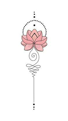 Mini Tattoos, Love Tattoos, Beautiful Tattoos, Body Art Tattoos, Tattoo Drawings, Small Tattoos, Tatoos, Unalome Tattoo, Lotus Tattoo