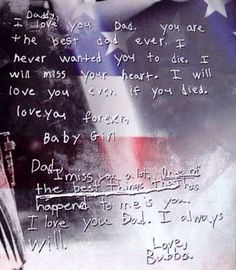 Inside the programs Chris Kyle's children wrote goodbye letters to him....