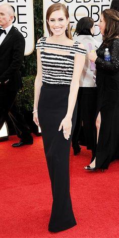 Allison Williams in  Alexander McQueen @ 2014 Golden Globes