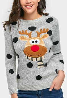 Up to 70% OFF! Polka Dot Elk Christmas Sweater. #Zaful #tops #outfits #sweaters #pearlsweaters #cardigans  #fashion #style #oversizedsweaters #knitsweater #knitwear #sweateroutfits #cardigan #cardiganoutfit #turtleneck #cashmeresweater #cashmere #womenfashion #winteroutfits #winterfashion #falloutfits #fallfashion #halloweencostumes #halloween #halloweenoutfits #christmas #thanksgiving #gift #christmascostumes #christmassweater #blackfriday #cybermonday @zaful Extra 10% OFF Code:ZF2017